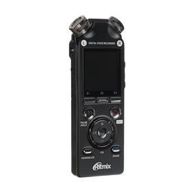 Диктофон Ritmix RR-989, 8 Гб, microSD, MP3/WAV,  дисплей с подсветкой, чёрный Ош