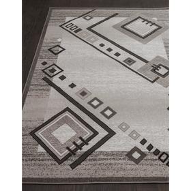Ковёр прямоугольный Silver d188, размер 60x110 см, цвет gray