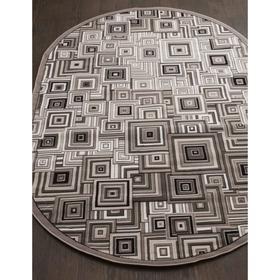 Ковёр овальный Silver d239, размер 60x110 см, цвет gray