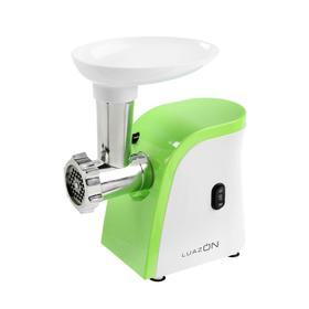 Мясорубка LuazON LMG-1804, 600 Вт, 2 решётки, реверс, шинковка, бело-зелёная Ош