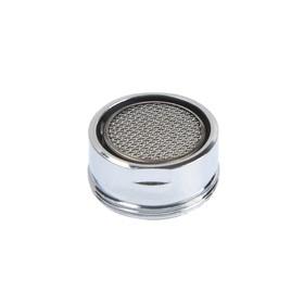 Аэратор ZEIN, наружная резьба, d=24 мм, сетка металл, корпус металл, цвет хром