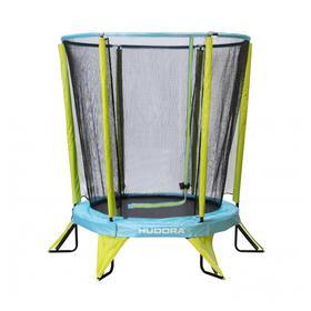 Батут с сеткой Kindertrampolin Safety 140, цвет салатово-голубой Ош