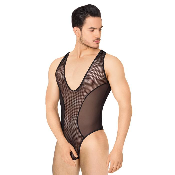 Боди из сетки мужское SoftLine Collection, цвет чёрный, размер M/L