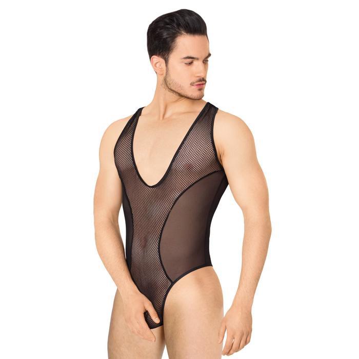 Боди из сетки мужское SoftLine Collection, цвет чёрный, размер XL
