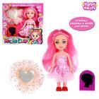 Кукла Magic Hair с мелком для волос, розовая