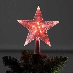 Фигура 'Звезда Красная ёлочная' 16Х16 см, пластик, 10 LED, 2 м провод, 240V КРАСНЫЙ Ош