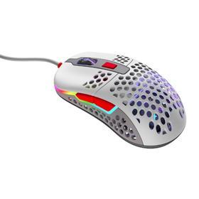 Мышь Xtrfy M42 RGB, игровая, проводная, оптическая, 16000 dpi, серая