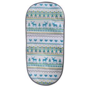 Матрасик в санки универсальный, принт вязаный, цвет бирюзовый Ош