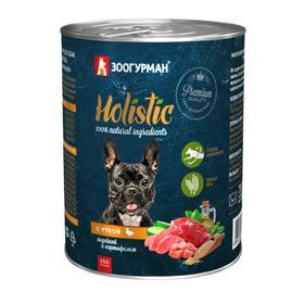 Влажный корм Holistic для собак, утка/индейка/картофель, ж/б, 350 г