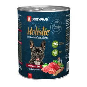 Влажный корм Holistic для собак, телятина с зеленой фасолью, ж/б, 350 г
