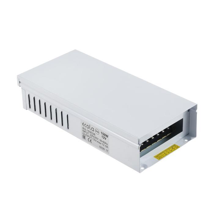 Блок питания для светодиодной ленты Ecola, 150 Вт, 220-12 В, IP53