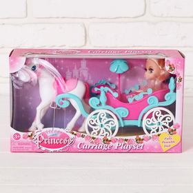 Карета с лошадкой и куклой Ош