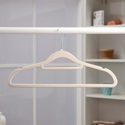 Вешалка-плечики для одежды «Бархат», размер 44-46, флокированное покрытие, цвет МИКС