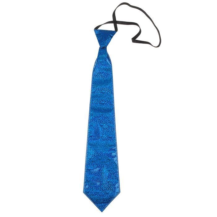 Карнавальный галстук Блеск, на резинке, цвета МИКС