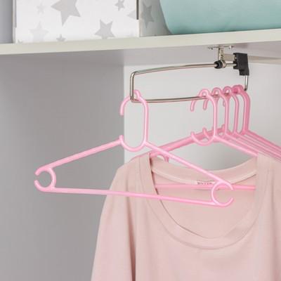 Вешалка-плечики для одежды детская Доляна «Классик», размер 30-34, цвет МИКС