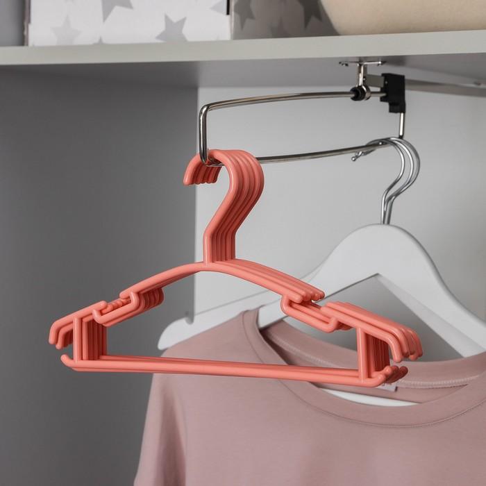 Вешалка-плечики для одежды детская Доляна Классика, размер 30-34, цвет МИКС