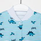 Комбинезон для мальчика, цвет белый/голубой динозавры, рост 74 см - Фото 2