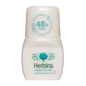 Шариковый антиперспирант Herbina «Хлопок 48ч», 50 мл