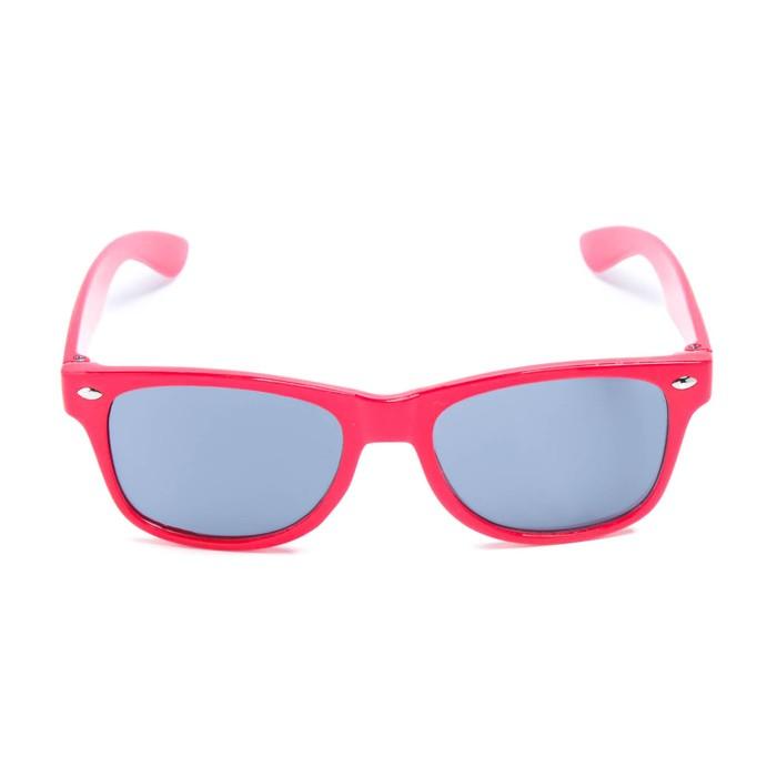 Очки солнцезащитные детские, на пружине, uv 400, 12.7х2.6х4 см, линза 4х5.4 см, красные