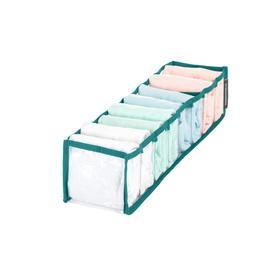 Органайзер прозрачный 40х10х10 см, 8 ячеек