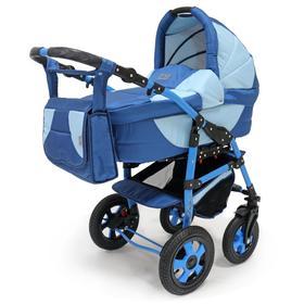 Коляска Serenade Pco, 2 в 1, цвет синий/голубой Ош