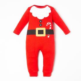 """Комбинезон Крошка Я """"Санта"""", рост 62-68 см, красный"""