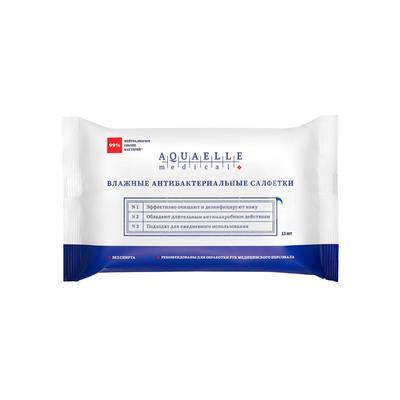 Влажные салфетки AQUAELLE MEDICAL, антибактериальные, 15 шт. - Фото 1