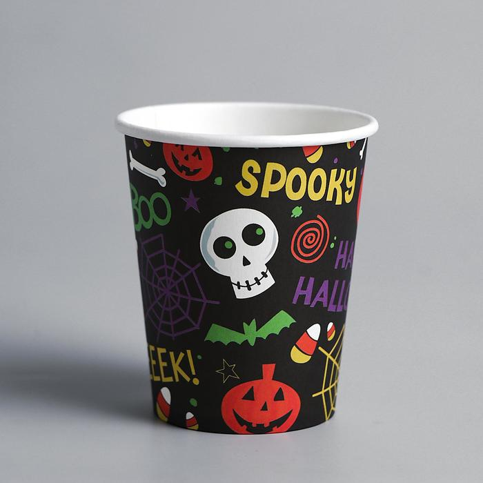 Стакан бумажный Хэллоуин, набор 6 шт