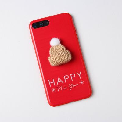 Чехол для телефона iPhone 7,8 plus «Уютного года», с дополнительным элементом 7,7 х 15,8 см - Фото 1