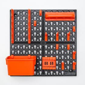 """Панель инструментальная с наполнением 32,6х10х32,6 см """"Blocker Expert"""", цвет черный-оранжевы"""