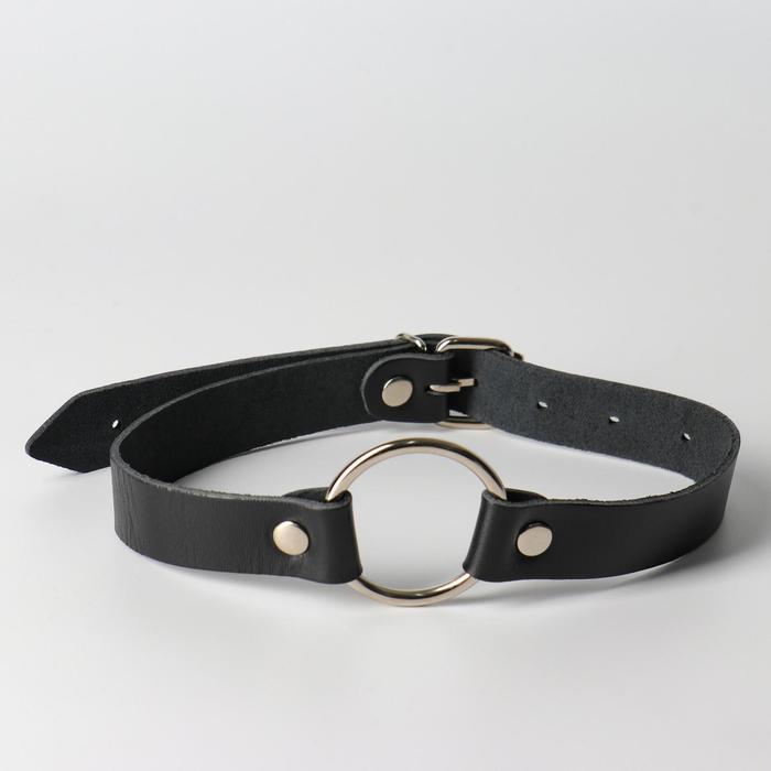 """Кляп-рамка """"Ring"""", кольцо 4,5-5 см, чёрный"""