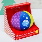 Мягкий развивающий мячик в подарочной коробке «Морской мир»
