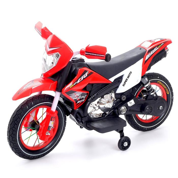 купить Электромотоцикл Кросс, пневматические колеса, цвет красный
