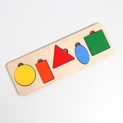 Рамка-вкладыш «Простая геометрия» 5 деталей, 28 × 9,5 × 0,8 cм - Фото 1