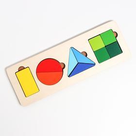 Рамка-вкладыш «Части-целое» 10 деталей, 28 × 9,5 × 0,8 cм