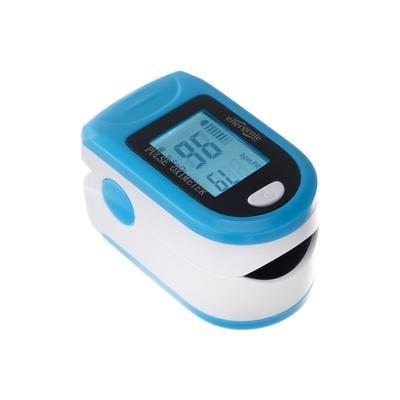 Пульсоксиметр Energenie EG-PO2W, 2хААА, белый с синим - Фото 1