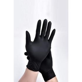 Перчатки виниловые, размер L, 100 шт/уп, цвет чёрный