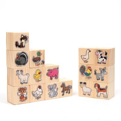 Набор кубиков «На ферме»16 шт.