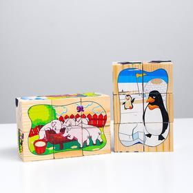 Большой набор кубиков. Пазлы на кубиках 4 (12 кубиков)