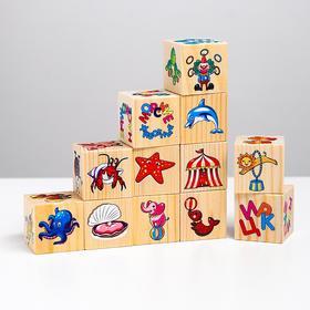 Большой набор кубиков. Ассоциации на кубиках №2 (12 кубиков)