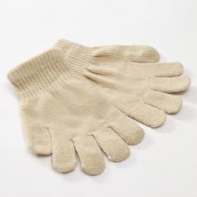 Перчатки детские MINAKU 'Однотонные',цв. бежевый, р-р 15 (6-8 лет) Ош