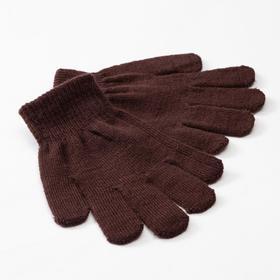 Перчатки детские MINAKU 'Однотонные',цв. коричневый, р-р 16 (10-12 лет) Ош