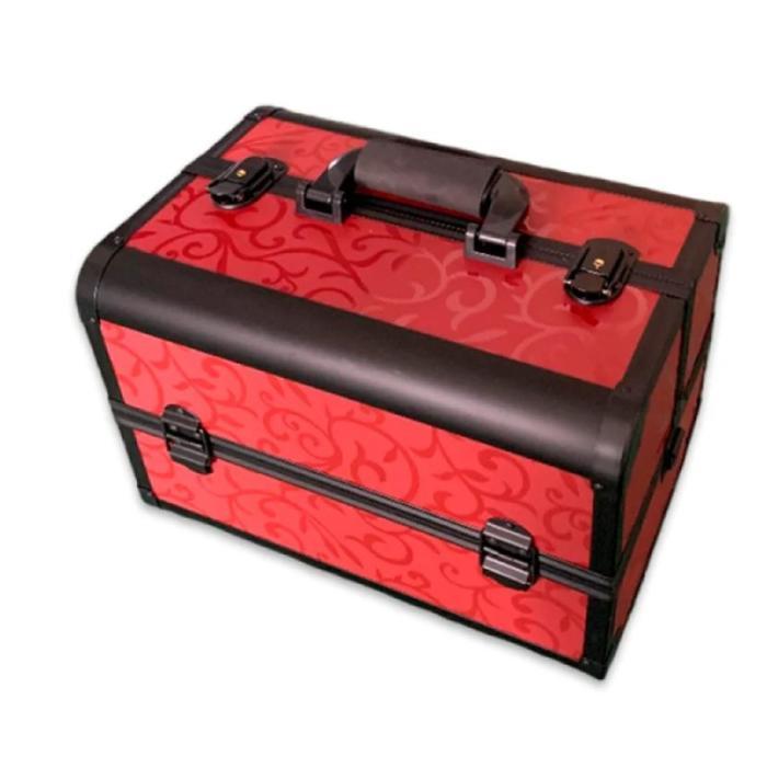 Бьюти кейс для косметики золотой CWB7350, цвет красный