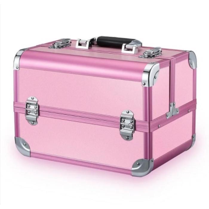 Бьюти кейс для косметики золотой CWB7350, цвет розовый