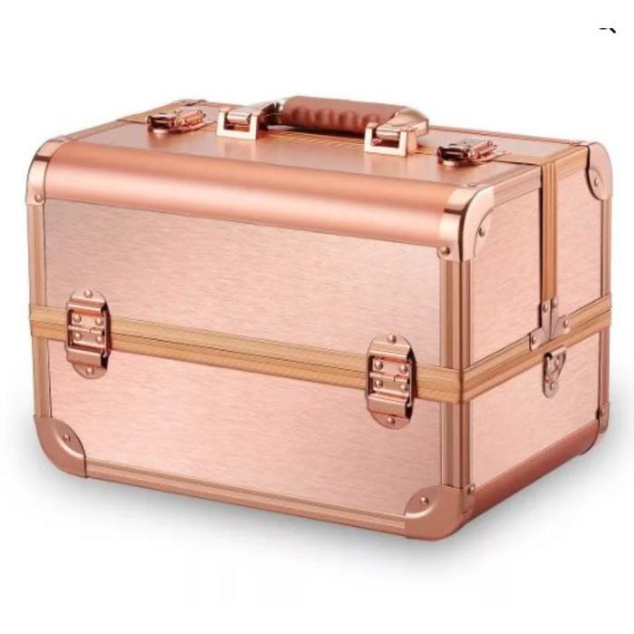 Бьюти кейс для косметики золотой CWB7350, цвет розово-золотой