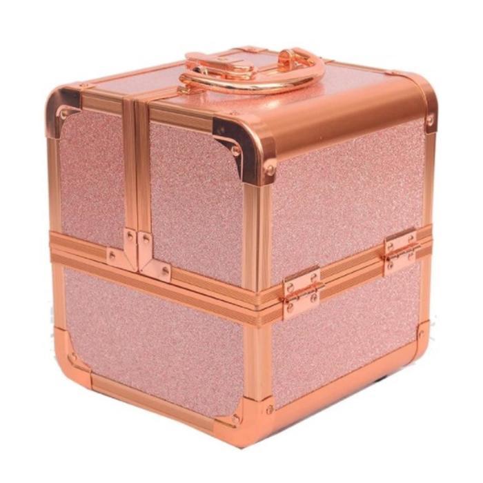 Бьюти-кейс для косметики CWB8015, цвет розово-золотой