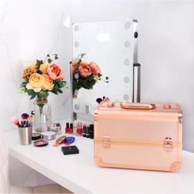 Бьюти-кейс для косметики CWB8340, цвет розовое золото Ош