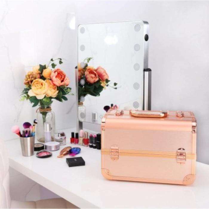 Бьюти-кейс для косметики CWB8340, цвет розовое золото