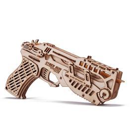 Сборная модель из дерева «Кибер Пистолет с мишенями»