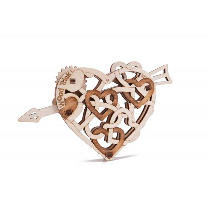 3D-пазл из дерева «Вудик Сердце»